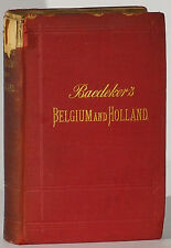 Baedeker's Belgium Holland Grand Duchy of Luxembourg 1894