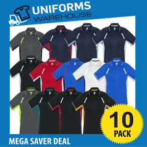 10 X MENS RENEGADE POLO SHIRT WORK UNIFORM SPORT CLUB GYM OFFICE TRADIES P700MS