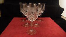 Service de 6 verres à eau en cristal d'Arques modèle Opera