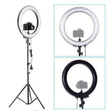 """Camera Photo 18�outer 14""""inner 600W 5500K Ring Dimmable Flash Light w Stand"""