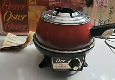 IN BOX Vintage Oster Electric Fondue Set no forks MADE IN USA RARE MODEL 681
