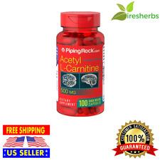 Acetyl L-CARNITINE 500 mg Brain Memory NERVE Nervous System SUPPLEMENT 100 CAPS