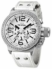 wachawant: TW STEEL TW10 Canteen 45MM White Dial Chronograph Unisex Watch