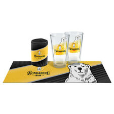 Bundy Bundaberg Rum Essentials Conical Glasses, Can Cooler & Bar Mat Runner Gift