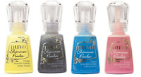 4 Nuvo Shimmer Powder bottles: Storm Cloud, Solar Flare, Cherry bomb, Blue Blitz