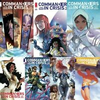 🚨💥 COMMANDERS IN CRISIS #1 COMPLETE COVER SET OF 7 / Main + All Variants