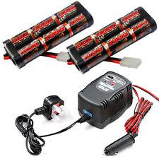 RC Car 2x 2000mah 7.2v Nimh Battery & 1,2 or 4a Fast Charger RC Electric Tamiya