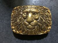 LION LUXURY PIN BUCKLE MADE IN BRASS ONLY FOR 38 MM BELTS DESIGNER BELT BUCKLES