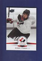 Robby Fabbri SP 2014-15 UD Hockey Team Canada Juniors #133