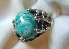 edinburgh item woven lennick silver sterling hallmark green ring handmade blue amazonite rings in jo