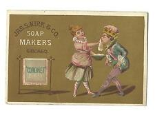 Old Trade Card Jas Kirk Soap Makers Chicago Coronet Woman Washing Man's Face