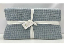 New ListingNew Pottery Barn Stonewashed PickStitch Pick-Stitch Full/Queen Quilt-Sky Blue