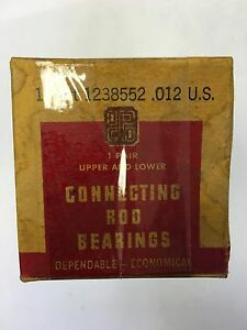 1934-1941 Plymouth  Connecting Rod Engine Bearings for Flathead Six, .012