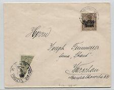 Stadtpost Warschau I a (halbiert) mit ZFauf Brief (B04126)