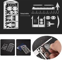 Camping Survival MultiTool Card Wilderness Survival Gear Kit For Hunting