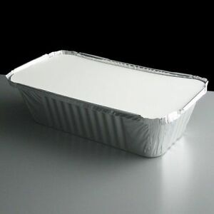 100 Silver Aluminium Foil Containers & Lids Size 6a Tray Takeaway Indian Chinese