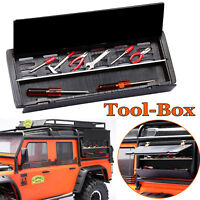 Tool Box Werkzeugkoffer + Metall Board Für TRAXXAS TRX4 SCX10 D90 D110 RC Truck