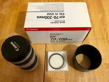 Canon EF 70-200mm f/4 L IS USM Lens / B+W UV - Excellent condition