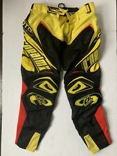 Oneal Hardware Motocross Race Pants Black Yellow Red Adult 32 Dirtbike MX ATV
