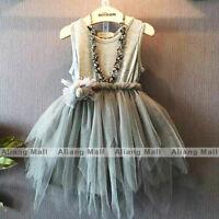 Baby Girls Sleeveless Dress Toddler Princess Clothing Party Kids Wedding Clothes