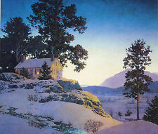 Maxfield Parrish 18x20 Print EVENING WINTERSCAPE 1953 American Museum Poster