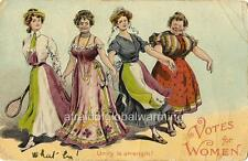 Photo SUFFRAGETTE 'Votes For Women' 'Unity is Strength'