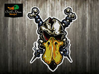RNT RICH-N-TONE QUACKHEAD SKULL DECAL STICKER LOGO DUCK GOOSE CALL
