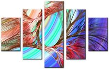 5 Panel Total size 115x80cm Large Digital Canvas Print Wall Art Abstract SIGNAL