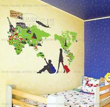 Travel Room Home Decor Removable Wall Stickers Decals Decoration