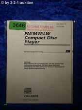 Sony Bedienungsanleitung CDX M610 CD Player (#3646)