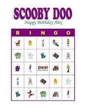 Scooby Doo Birthday Party Game Bingo Cards
