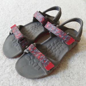 Merrell Hydro Drift Water Sandal BOYS Size 2 MC57951 Gray Red