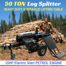 50 Ton Hydraulic Log Splitter Electric Start With Heavy Duty Lifting Table
