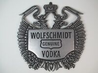 Vintage Wolfschmidt Vodka Metal Tray Sign Liquor Bar Pub Decor Advertising