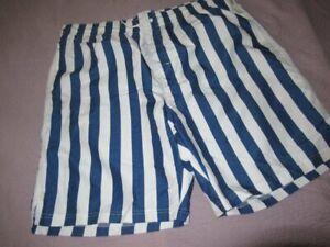 nwt Old Navy  blue white stripe swim trunks men's XL tall free ship USA