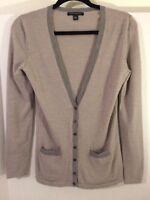 Banana Republic womens gray cardigan 100% wool size S