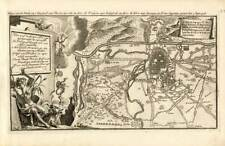 Antique Map-TURIN-TORINO-ITALY-FORTRESS-WAR-Weege-1753