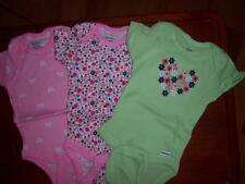 3 New Girl's Gerber Onesies, Baby Shower, Size Newborn