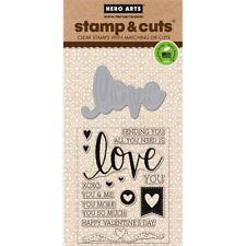 Love Hero Arts Clear Stamp & Cut Thin Metal Die Set DC175 NEW!
