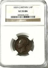 GREAT BRITAIN - Queen Victoria - Farthing - 1839 - NGC VF35