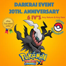 Pokémon ORAS / XY – DARKRAI EVENT POKÉMON 20th ANNIVERSARY 6IV's – ANY NATURE