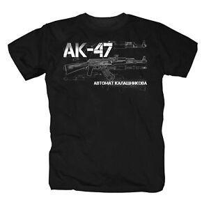 AK 47 Kalaschnikow Maschinengewehr Sowjetunion UdSSR Russland T-Shirt S-5XL