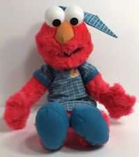 Sesame Street Pajama Elmo Plush Nanco 2006 Nighttime Red Blue Stuffed