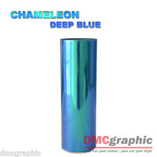 2xA4 Chameleon Deep Blue Car Motorbike Headlight Tail Light Vinyl Tint Wrap