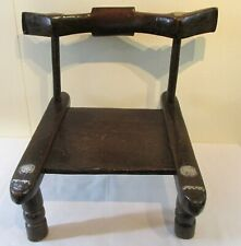 African Malinke Chair Ivory Coast Late 19th Century Metal Accents Great Patina!