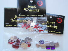 Jewel Treasures Wearable Art Red Purple Square Star Rectangle Craft Rhinestones