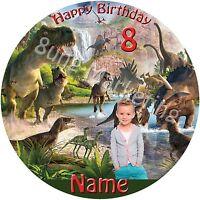 Tortenaufleger Dinosaurier -Tortendeko mit Wunschtext und Wunschbild (31)