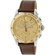 Victorinox Swiss Army Hombre Reloj Chrono Clásico con Correa de Cuero Marrón 241659