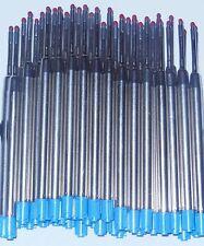 6 - GEL Ballpoint Refills for PARKER PEN - BLUE Medium