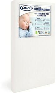 Graco Premium Foam Infant Baby Crib and Toddler Home Bedroom Mattress Standard